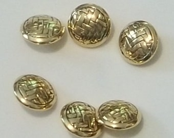 Gold basket weave buttons