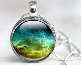 Space Necklace, Drustan Nebula Necklace , Space Pendant  - Space Jewellery - Glass Pendant (SND1)
