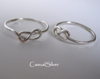 Infinity Ring solid sterling silver, Silver Love Knot Ring,stacking Silver ring, Handmade Jewelry, Promise Ring, Gift