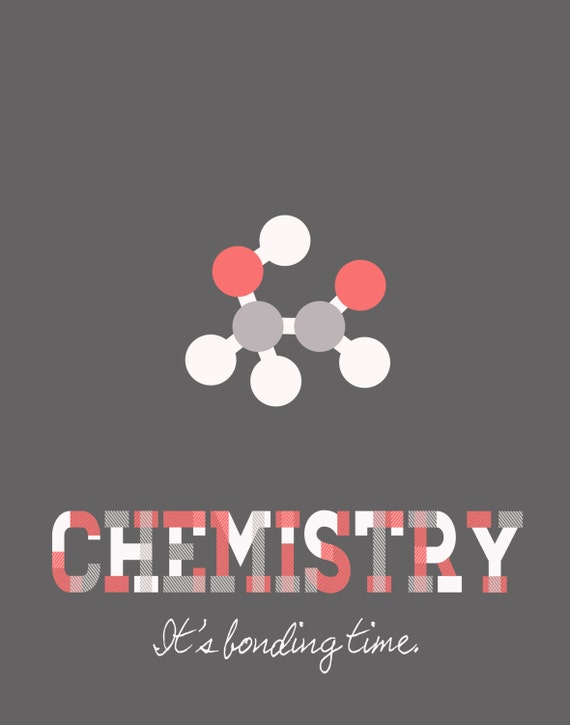Items similar to chemistry bonding time poster for Chemistry poster ideas
