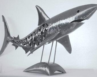 Large Metal Shark Sculpture