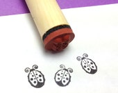 Adorable Little Ladybug Rubber Stamp