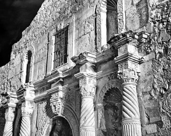 The Alamo (Black & White Matte Print)