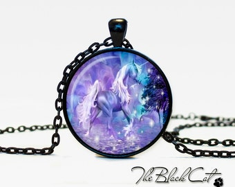 Unicorn pendant Unicorn necklace Unicorn jewelry fantasy style art gift (PU0010)