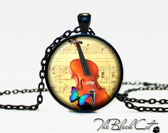 Violin pendant Violin necklace Violin jewelry for musician music pendant (PM0001)
