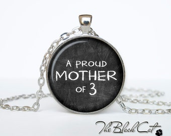 Mothers day necklace  Proud Mom Necklace Mothers day pendant Mothers day jewelry