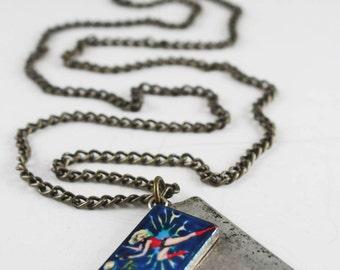 "Vintage Japanese "" Barbarella"" Movie Poster Necklace"