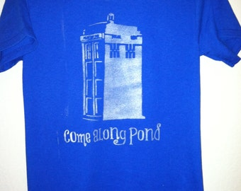 Come Along Pond, Amy Pond, Doctor Who, Police Box, Rory Williams, Shirt