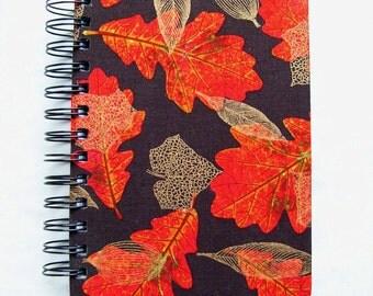 Oak Leaf Fabric Notebook