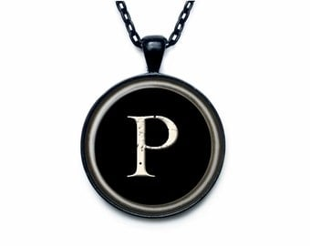 Vintage Typewriter Key pendant Vintage Typewriter Key necklace Art print under glass