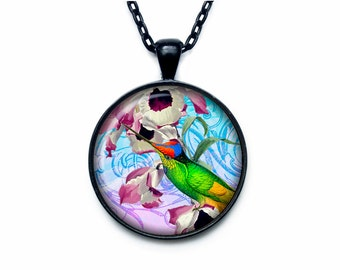 Colibri pendant Colibri necklace Colibri jewelry nature necklace