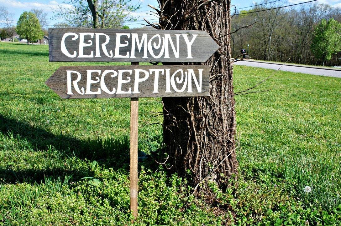 Wedding Ceremony Sign Wedding Ceremony Decor Wedding