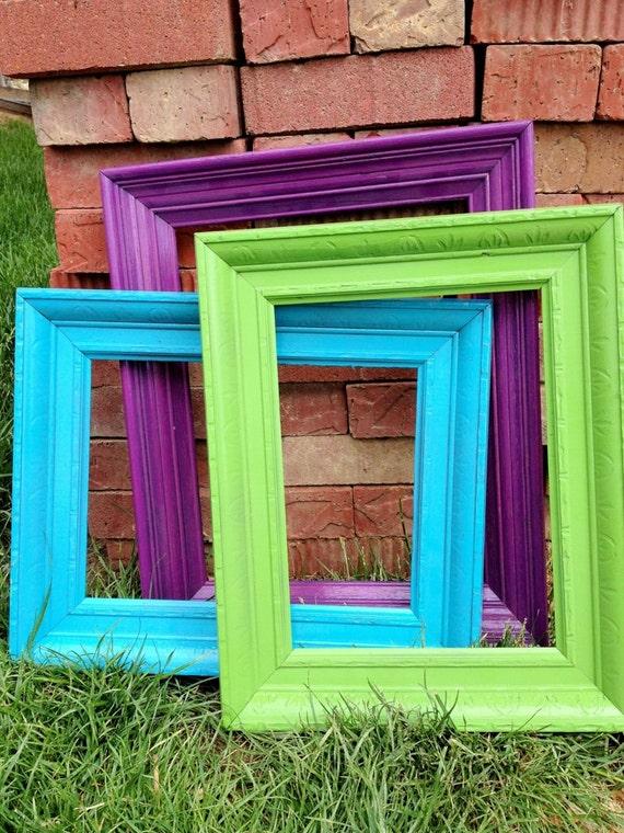 Vintage frames large open frames green frame wedding decor for Blue green purple room
