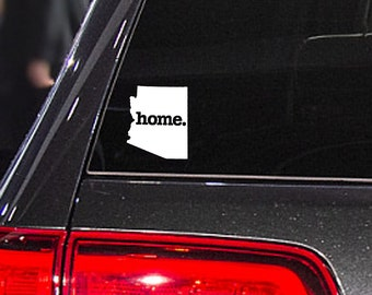 Arizona Home. Decal Car or Laptop Sticker