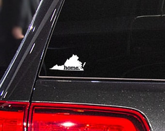 Virginia Home. Decal Car or Laptop Sticker
