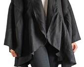 Soft Hemp Bell Sleeve Jacket (JNN-072-01)