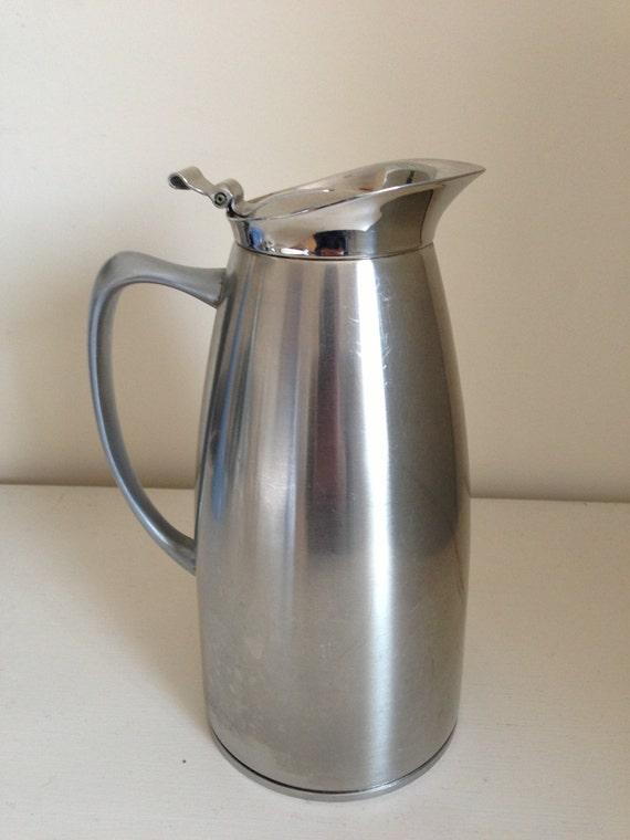 vintage coffee pot carafe jug milk server mid century brushed. Black Bedroom Furniture Sets. Home Design Ideas