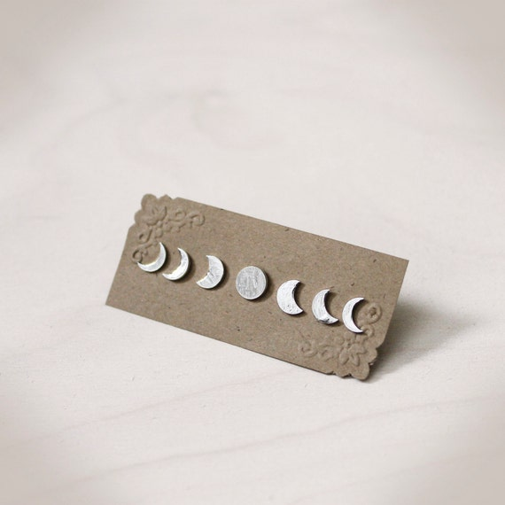 Phases of the Moon Stud Earring Collection