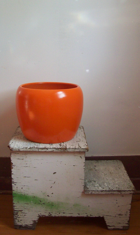 Gainey Ceramics Mid Century Planter Large Size J 10 Orange