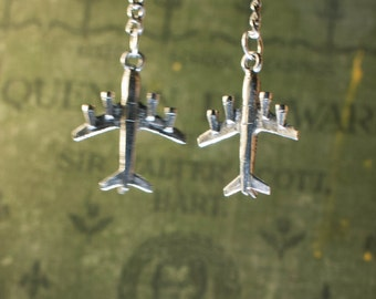 Fly High Airplane Earrings
