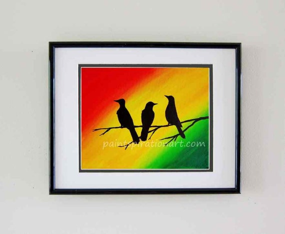 Three Little Birds Bob Marley Original Painting Song Art