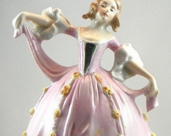 Vintage German Lady Figure Lamp Base 1920s Carl Schneider
