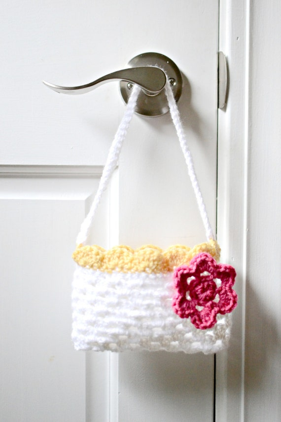 Toddler Crochet Purse Pattern : Crochet Childs Purse Baby Girl Purse Mini by AudrianasCloset