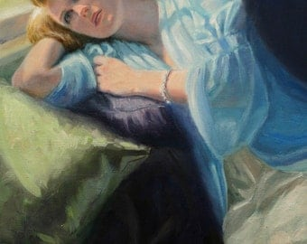 Wistful - oil on canvas