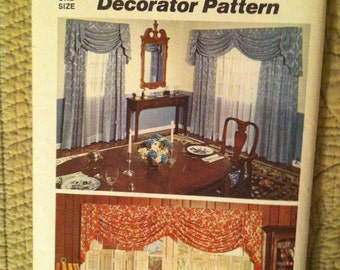 Free Patterns Uncut Curtains Swag Jabot Valance Side