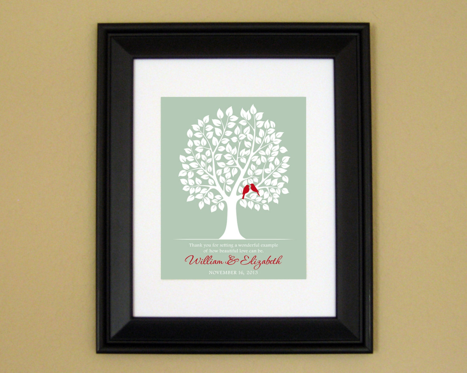 Wedding Gifts Between Parents : Wedding Gift for Parents or In-Laws Thank by CedarHouseKeepsakes2