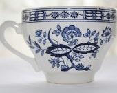 Vintage Teacup Blue Onion Design Made In England