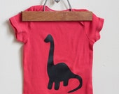 Custom Listing for Stephanie - Hand Dyed Green Ombre Dinosaur Onesie - Size 0-3 months