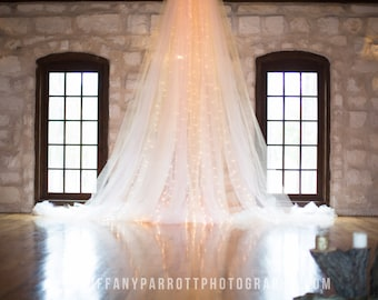 20ft Lighted Tulle Garland 20 feet long with 100 lights
