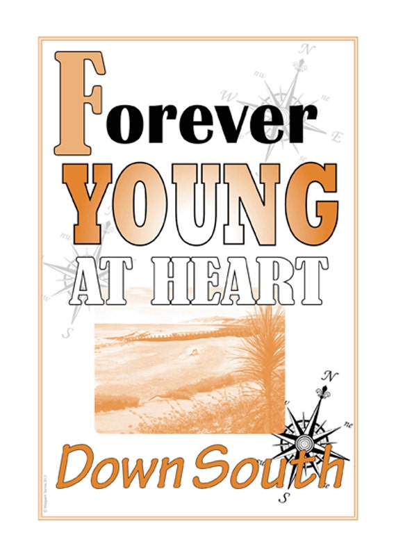 A3 Motto Poster, Forever young at Heart
