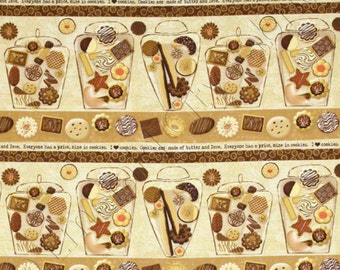 Cookie Fabric - Biscotti Cookie Shelf by Linda Maron for Spectrix 22217 BEI1 - Choose your size