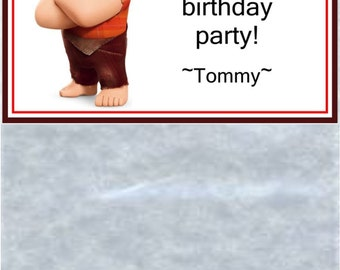 Personalized Birthday Party Favor Toppers And Bags - Wreck It Ralph - Set Of 12 Toppers And Bags