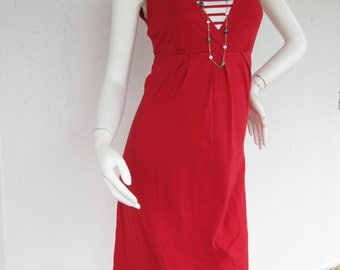 NAUTICAL Maternity Dress / Nursing Dresses / Breastfeeding Clothing / Nursing Clothes / NEW / RED Dress / Maternity Clothing Pregnancy dress