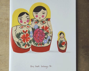 Illustrated Notebooks: Set of Russian Dolls