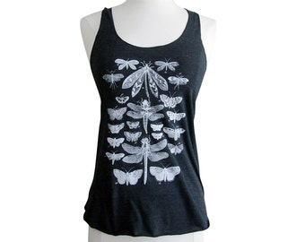 Insects Tank Top - Insect Bug Tri-Blend Tank - Available in sizes S, M, L