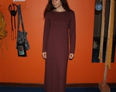 organic clothing - long sleeve winter fleece nightgown / dress / pajamas - 100% hemp and organic cotton - custom made to order - hand dyed