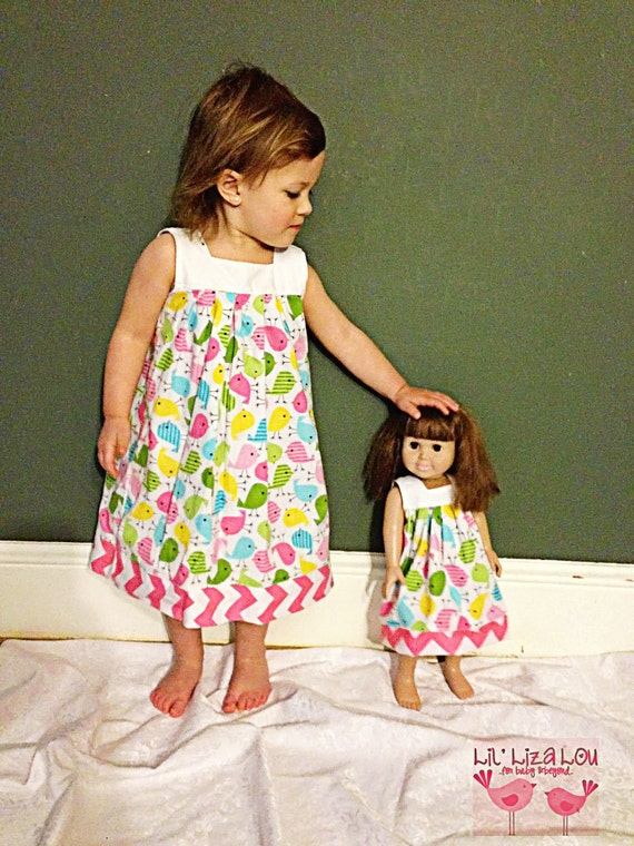 Doll Dress Pattern fits American Girl Printable Doll Pattern