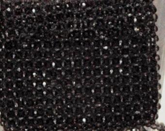 Beaded Handbag Vintage Fringed Gray Faceted Beads Purse Hong Kong