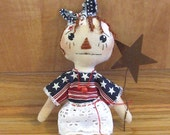 Sale Primitive Americana Raggedy Annie Doll Decoration