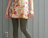 Mini Dress with Micro shorts / RARE / psychedelic /  size 4 -6 /  small