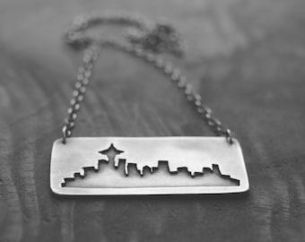 Custom City Skyline or Landscape (pick your city or landscape - custom order) - necklace