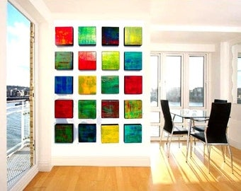 Custom Art | Modern Painted Wood Wall Sculpture | Geometric Wall Sculpture | Original Abstract Modern Art |  sku#CB33004