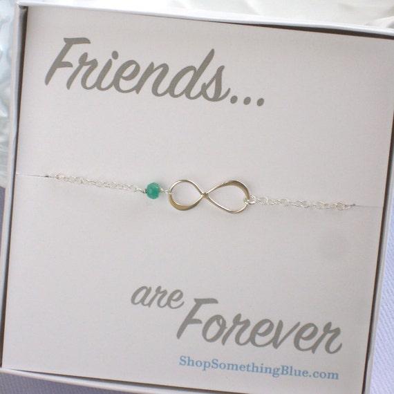 Personalized Friend Sentiment Bracelet Infinity Birthstone Bracelet