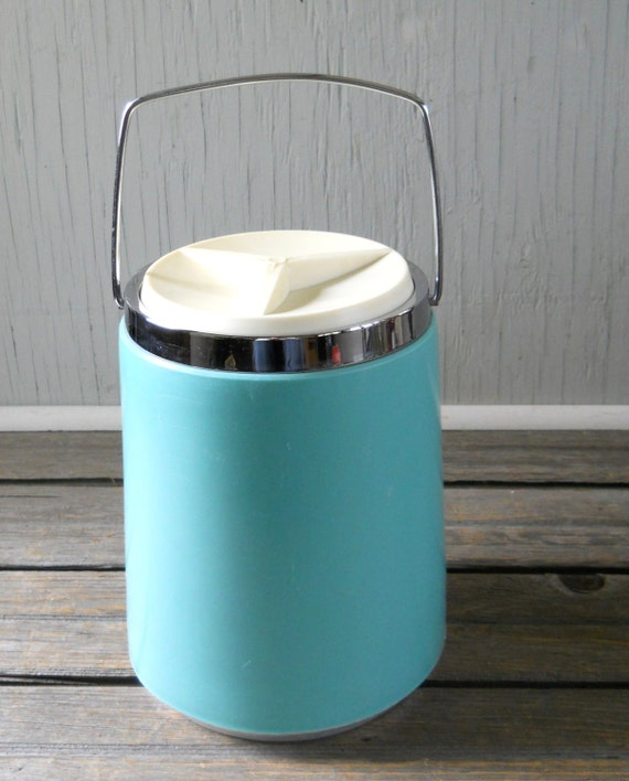 Vintage Ice Bucket Aqua Super Large