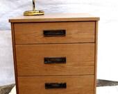 Vintage Mid Century Modern Solid Wood Medical Cart