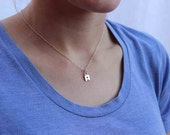 Personalized Jewelry, Sterling Silver Initial Necklace,  Personalized gift, custom initial jewelry, wedding gifts, best friends, new mom